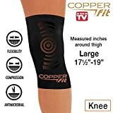 Copper Fit Copper Infused Knee Compression Sleeve As Seen on TV Brace Joint Pain (Large 175-19)