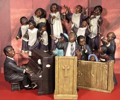 ENESCO 335967 - Spieluhr Gospel Gruppe Hallelujah (Spieldose, Musikdose, Spieluhren) - ein ideales Geschenk