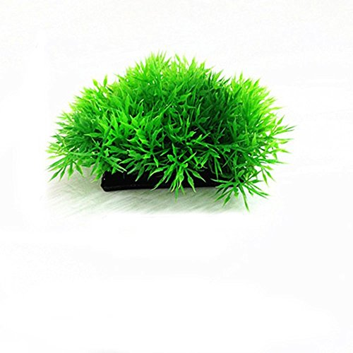 (Junbuoom Decor Ornaments Pine Needles Lawn Weeds Decoration Aquarium Plastic Water Plant Artificial Water Grass)