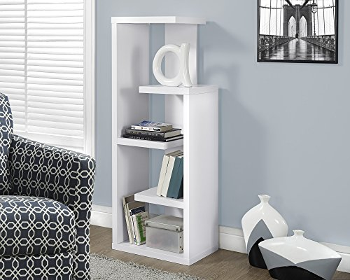 Monarch Specialties I 2466, Bookcase, White, 48''H by Monarch Specialties