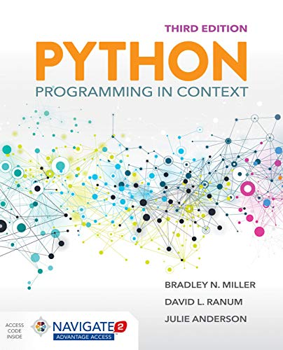 Book cover of Python Programming in Context by Bradley N. Miller