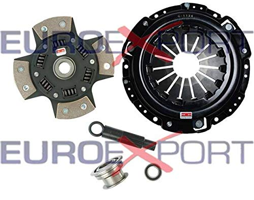 Competition Clutch Disc and Pressure Plate Kit for Honda H22 Prelude 2.0L 2.1L Ceramic 4 Puck Sprung Stage 5 ()