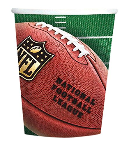 """Amscan NFL Drive Birthday Party Paper Cups (8 Piece), Green/Brown, 7 x 3.5"""""""