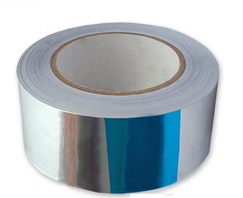 Kitchare Professional HVAC Tape & Premium Aluminum Foil Tape-3'' Width x 55 Yards Heavy Duty Repair Foil Tape(0.03mm Thickness)