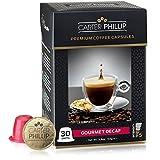 Decaf Nespresso Compatible Capsules - 30 Count - Premium Dark Roast Decaf Espresso by Carter Phillip Fine Coffee - Fit Nespresso Original Line Machines - Delicious Alternative to Nespresso Pods