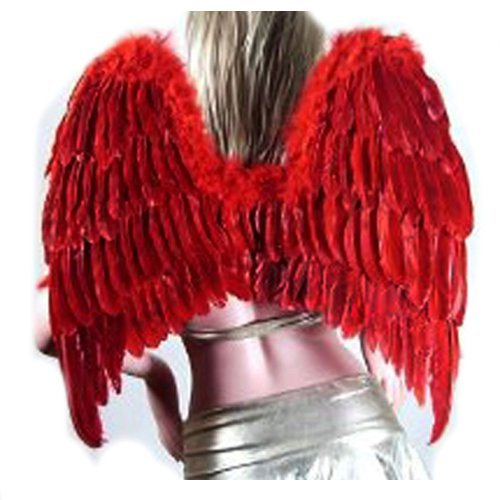 SACASUSA (TM) Large Feather Fairy Angel Wings in Red for $<!--$22.98-->