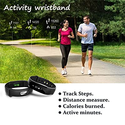 EIISON Fitness Tracker with Heart Rate Monitor, Z4 Activity Watch Step Walking Sleep Counter Wireless Wristband Pedometer Exercise Tracking Sweatproof Sports Bracelet for Android and iOS