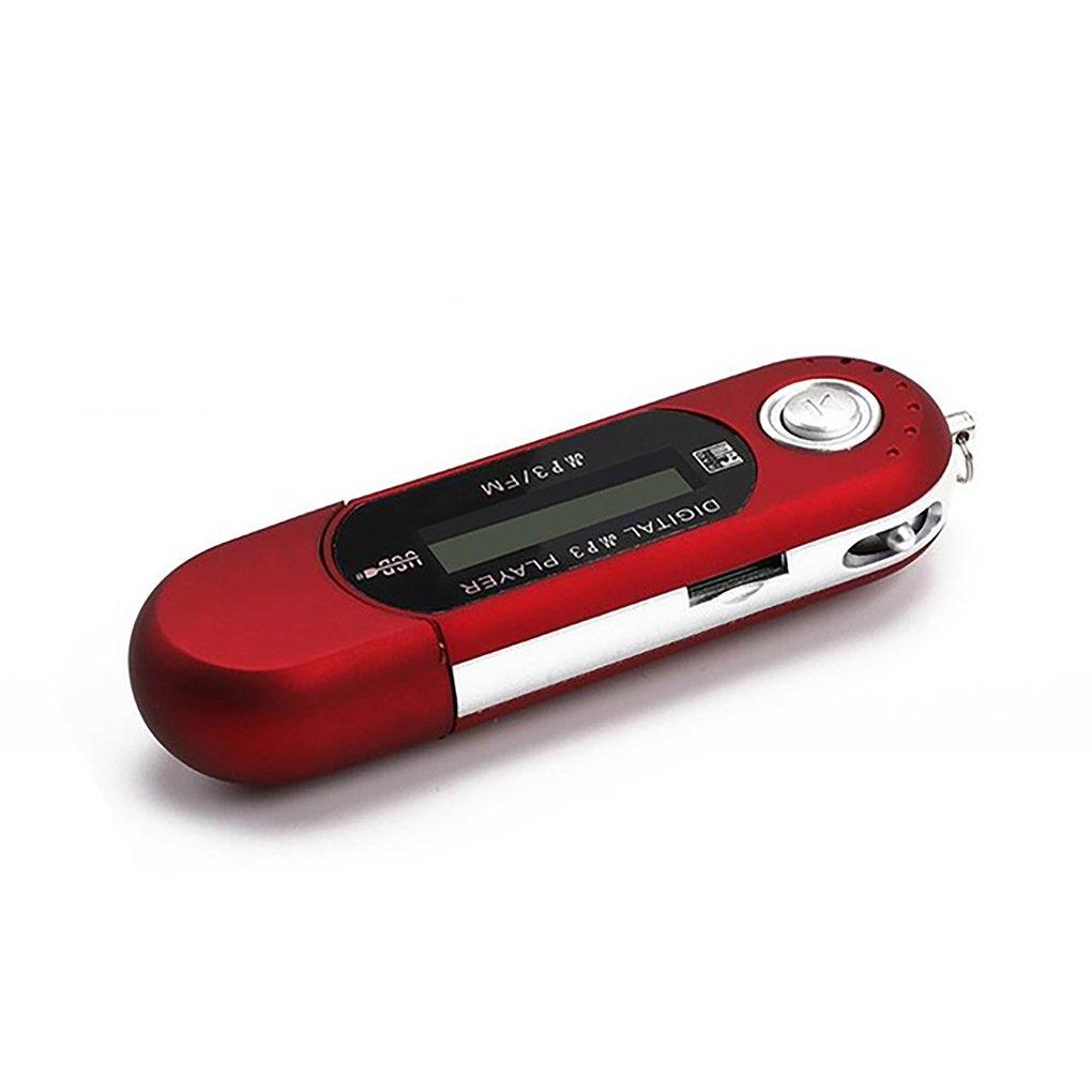 Boburyl Mini USB MP3 LCD Digitale Flash Player Supporto Flash 32GB TF Slot Music Player Radio FM