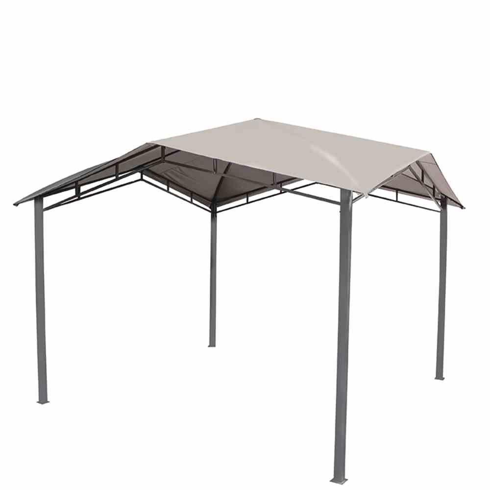 Siena Garden 258093 Pavillon Brasil, 3x3m Stahl-Gestell anthrazit Dach Polyester 250g/m² hell-grau, PU-beschichtet