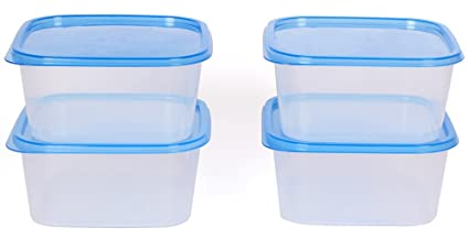 bcffd1bda1f Image Unavailable. Image not available for. Colour  Gluman 4 Pcs Set of Plastic  Kitchen Storage ...