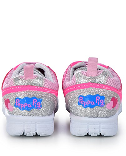 Pictures of Peppa Pig Kids Toddler Girls Silver and Pink 10 M US 2