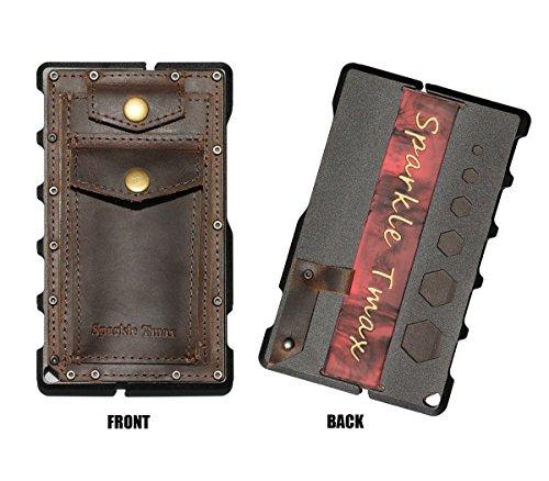 Sparkle Tmax Metal Card Protector Leather CNC Alum RFID Blocking Card Case