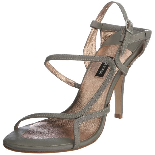 Diesel Women's Truelove Leather Heeled Sandal Silver 0fLtz9