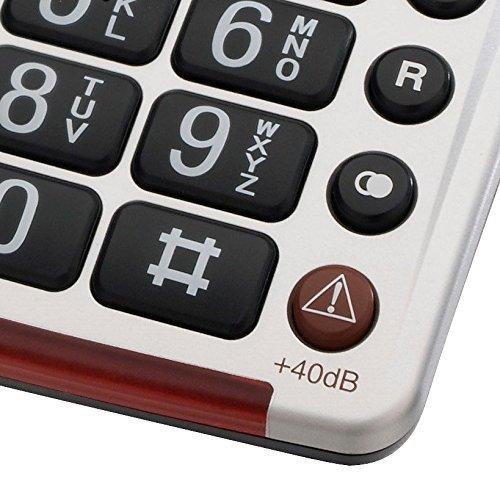 amplicomms bigtel 40 plus  amplicomms BigTel 40 Plus, Telefono a tasti grandi con fototasti ...