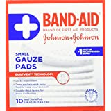 Band Aid gauze pads, small 10 Count