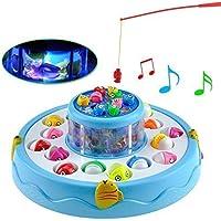 Samaira Toys GOGO Fishing Electronic Double-Layer Rotating Fishing Toy Set (Color May Vary)