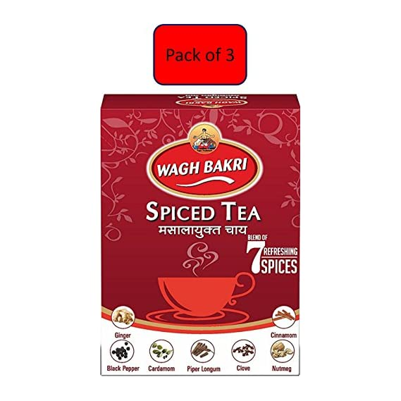 Wagh Bakri Spiced Tea, 250g- Pack of 3
