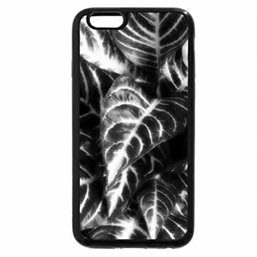 iPhone 6S Plus Case, iPhone 6 Plus Case (Black & White) - Flowers and Leafs 20
