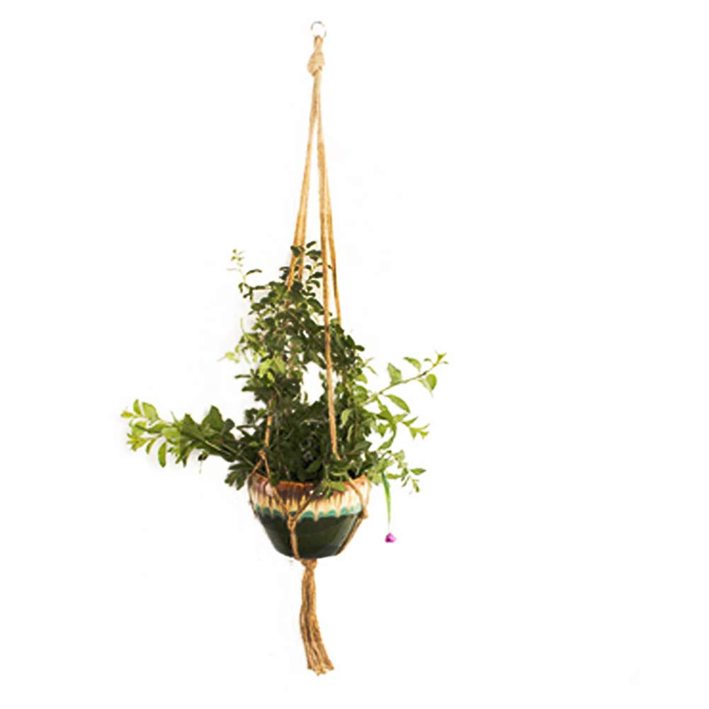 The Fellie 2 Pieces Macrame Plant Hanger Garden Home Hanging Planter,...
