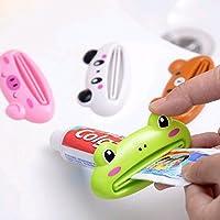 GreenSun(TM) 2PCS/Lot New Cartoon Easy Squeezer Toothpaste Tube Rack Dispenser Rolling Holder Easy Squeeze Paste Dispenser Roll Holder