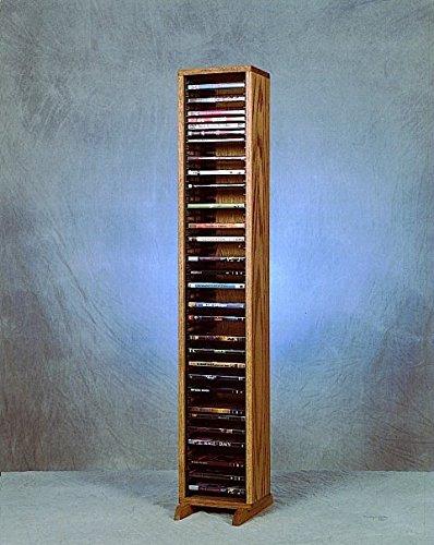 DVD Storage Tower W Individual Locking Slots (Honey Oak)