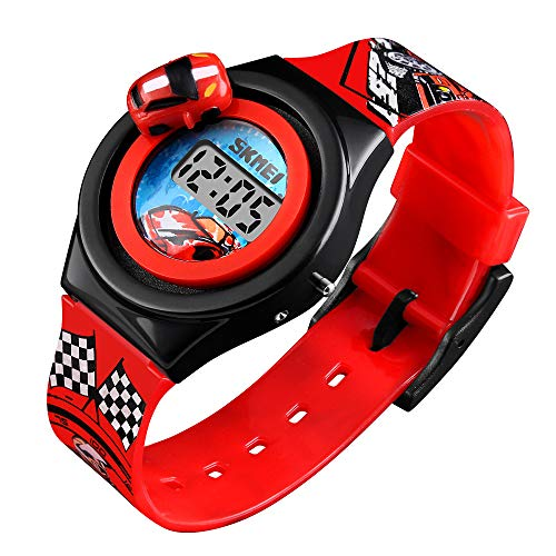Kids Digital Watches 3D Car Silicone Children Toddler Wrist Watches Time Best Gift for Boys Girls Little Child by Farsler (Image #7)