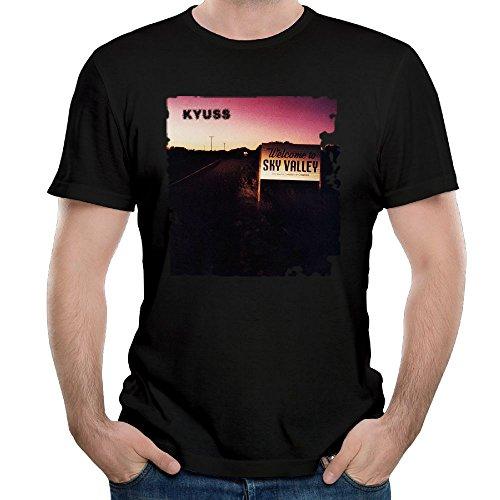 Ulongpoq Men's Kyuss Welcome to Sky Valley Cotton T Shirts Black 6XL ()