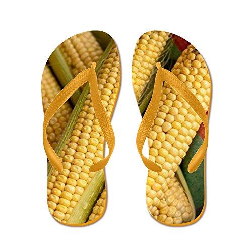CafePress Raw Corn Cobs - Flip Flops, Funny Thong Sandals, Beach Sandals Orange