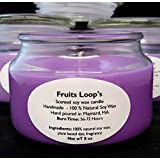Fruit Loop's Scented Soy wax Candle l Natural l Vegan l Biodegradable l Just Like The Cereal l Natural Wick