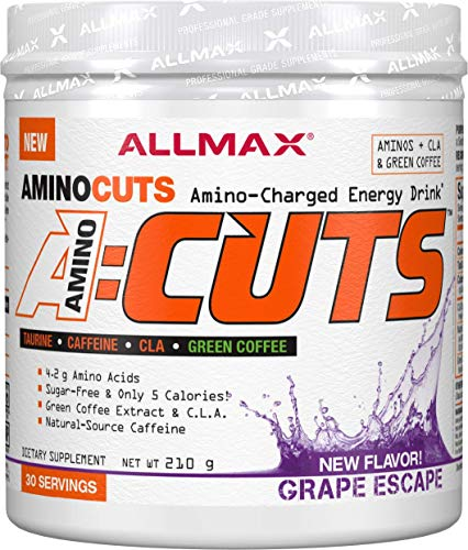 ALLMAX Nutrition A:CUTS, Amino Charged Energy Drink, Grape Escape, 210g