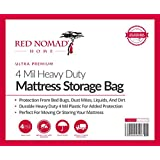 2 Pack Red Nomad Mattress Bag For Moving and Storage, Queen - Two Durable Plastic Mattress Storage Covers to Protect Mattresses Or Other Furniture When Moving Or In Storage