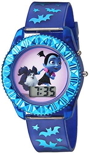 Disney Girl's Quartz Plastic Casual Watch, Color:Blue (Model: VMP4004)