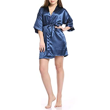 Mujeres Sexy Satinado Sleepwear Ropa Interior Vestido De ...