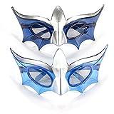 light blue mardi gras mask - 1 Pair LED Flashing Light Up Mardi Gras Masquerade Mask Party Shades Glasses (Blue)
