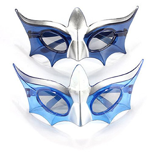 1 Pair LED Flashing Light Up Mardi Gras Masquerade Mask Party Shades Glasses - Blue Led Glasses