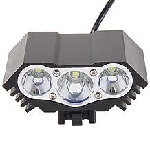 Chinatera 7500LM 3x CREE XML T6 LED Bike Headlight HeadLamp + 18650 Battery + Charger