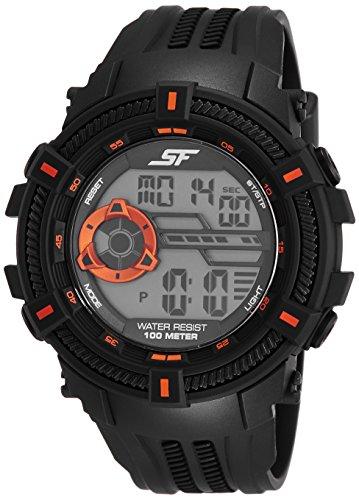 Sonata Fibre (SF) Digital Grey Dial Men's Watch-NL77080PP02