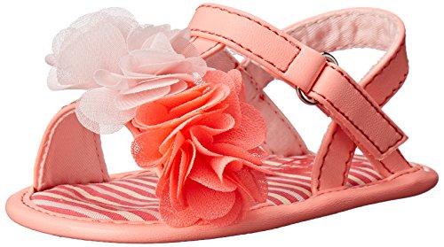 The Children's Place Newborn Girls Flower Sandal (Infant), Neon Melon, 6-12 Months M US Infant (Children Place Girls Sandals)