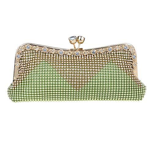 Pochette D'embrayage Femme De Fête Robe Green Sac Perle Diamant Sac Mariage Sac Clutch Bourse Banquet Soirée Main à Prom 0wZr0q