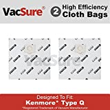 kenmore style 0 vacuum bags - Kenmore Genuine HEPA Cloth Canister Vacuum Bags Type Q - By VacSure (2 Bags)