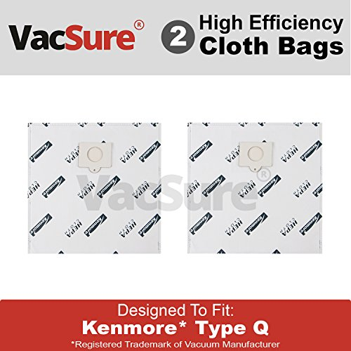 Kenmore Genuine HEPA Cloth Canister Vacuum Bags Type Q - By