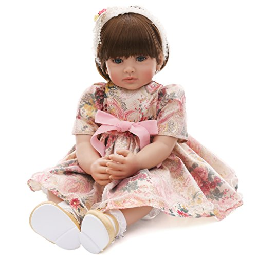 Annabelle Costume Shoes (LaDORA 23'' Soft Body Lifelike Adorable Doll with Moveable Arms Legs for 6+ Children Dolly Toy AMC17020)