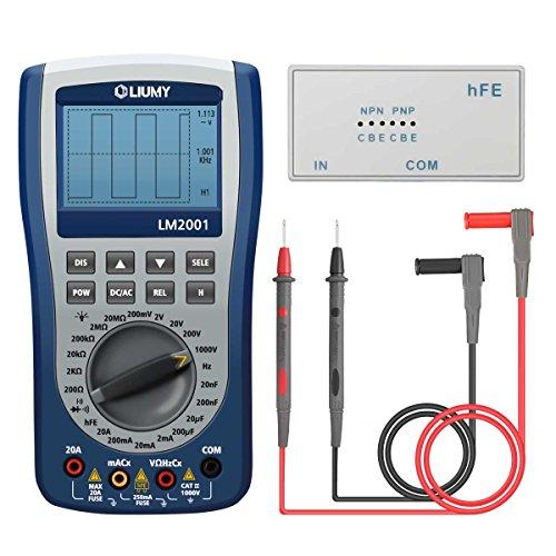 Oscilloscope Multimeter, LIUMY Professional Handheld LED Scopemeter Oscilloscope Multimeter with 200ksps A/D Automatic Waveform Capture Function, DC/AC Voltage /Current, Resistance Test with Backlight