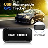 Lixada// Mini Portable USB Rechargeable Magnetic Vehicle GPS Tracker Wireless Outdoor Cycling Tracking System Real Time Locator Anti-Theft