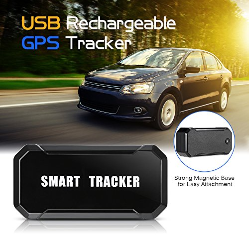 Lixada// Mini Portable USB Rechargeable Magnetic Vehicle GPS Tracker Wireless Outdoor Cycling Tracking System Real Time Locator Anti-Theft by Lixada/