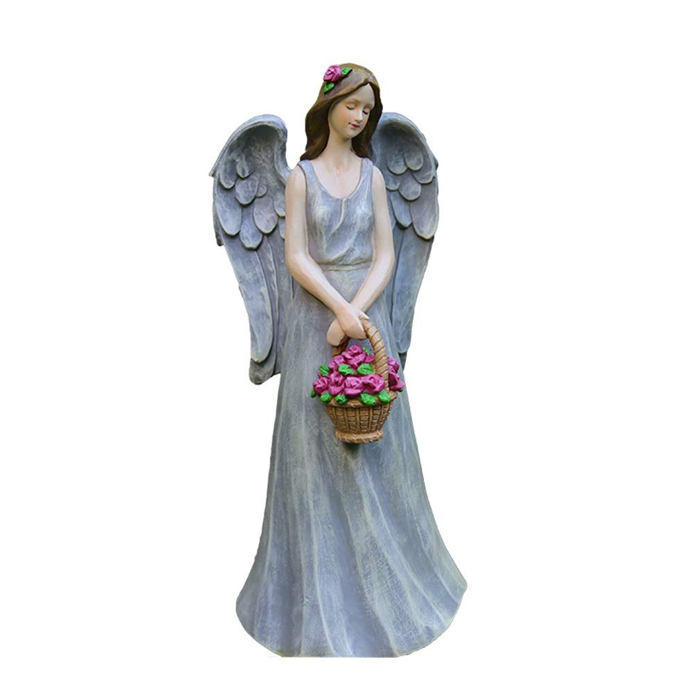 YYH Garden Decoration Outdoor Garden American Country Gardening Decoration Resin Figure Little Angel Flower Fairy Decoration (Color : A) by YYH