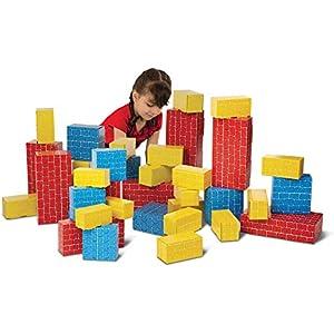 Melissa & Doug Jumbo Extra-Thick Cardboard Building Blocks - 40 Blocks in 3 Sizes