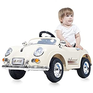 Ride-On-Toy-Car-Battery-Operated-Classic-Sports-Car-With-Remote-Control-and-Effects-by-Rockin–Rollers–Toys-for-Boys-and-Girls-2–5-Year-Olds