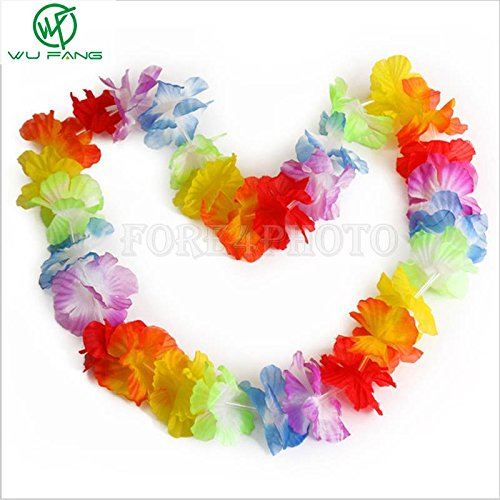 Party Party Party - 10pcs Lot Hawaiian Leis Party Garland Necklace Colorful Fancy Dress Hawaii Beach Fun - Unicorn Dinosaur Dino
