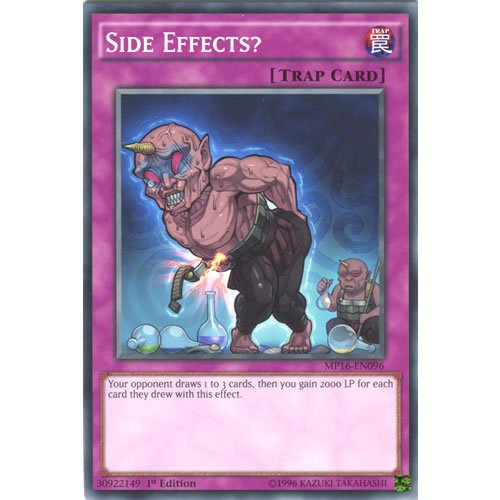 YuGiOh : MP16-EN096 1st Ed Side Effects? Common Card - ( Yu-Gi-Oh! Single...